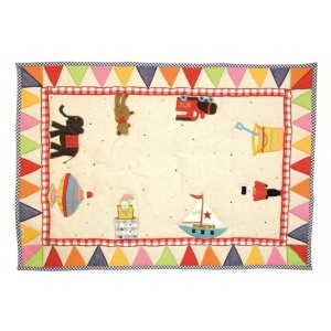Toy Shop Playhouse Floor Quilt (large) - Win Green (1210)