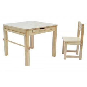 Boss Envy Art Table & Chair Set – Natural - Liberty House Toys (TPS01N)