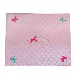 Unicorn & Butterfly Pink Floor Quilt (large) - Kiddiewinkles (60980)