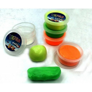 UV Sensory Putty Glow in the Dark Set of 6
