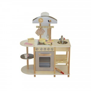 Breakfast Bar Wooden Toy Kitchen with Accessories - Liberty House Toys (W10C099)