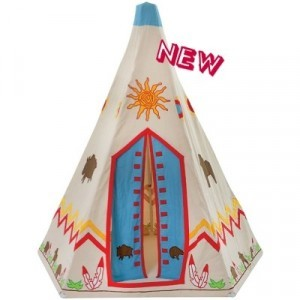 Wigwam - Tipi Wild West with rug / quilt- Kiddiewinkles
