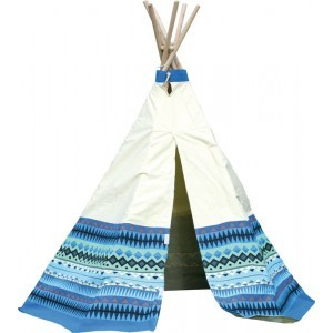 Wigwam Play Tent Aztec (Blue / White) - Garden Games (7096014)