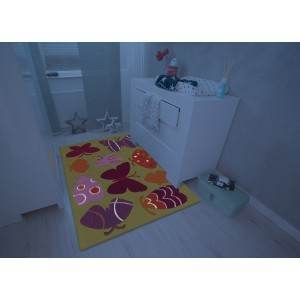Children's Carpet Multi Butterfly (110 x 160cm)