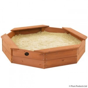 Octogonal / octagonal wooden sandbox - Plum