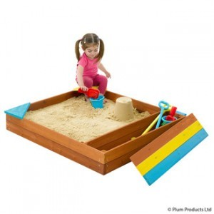 Store-it wooden sandbox - Plum