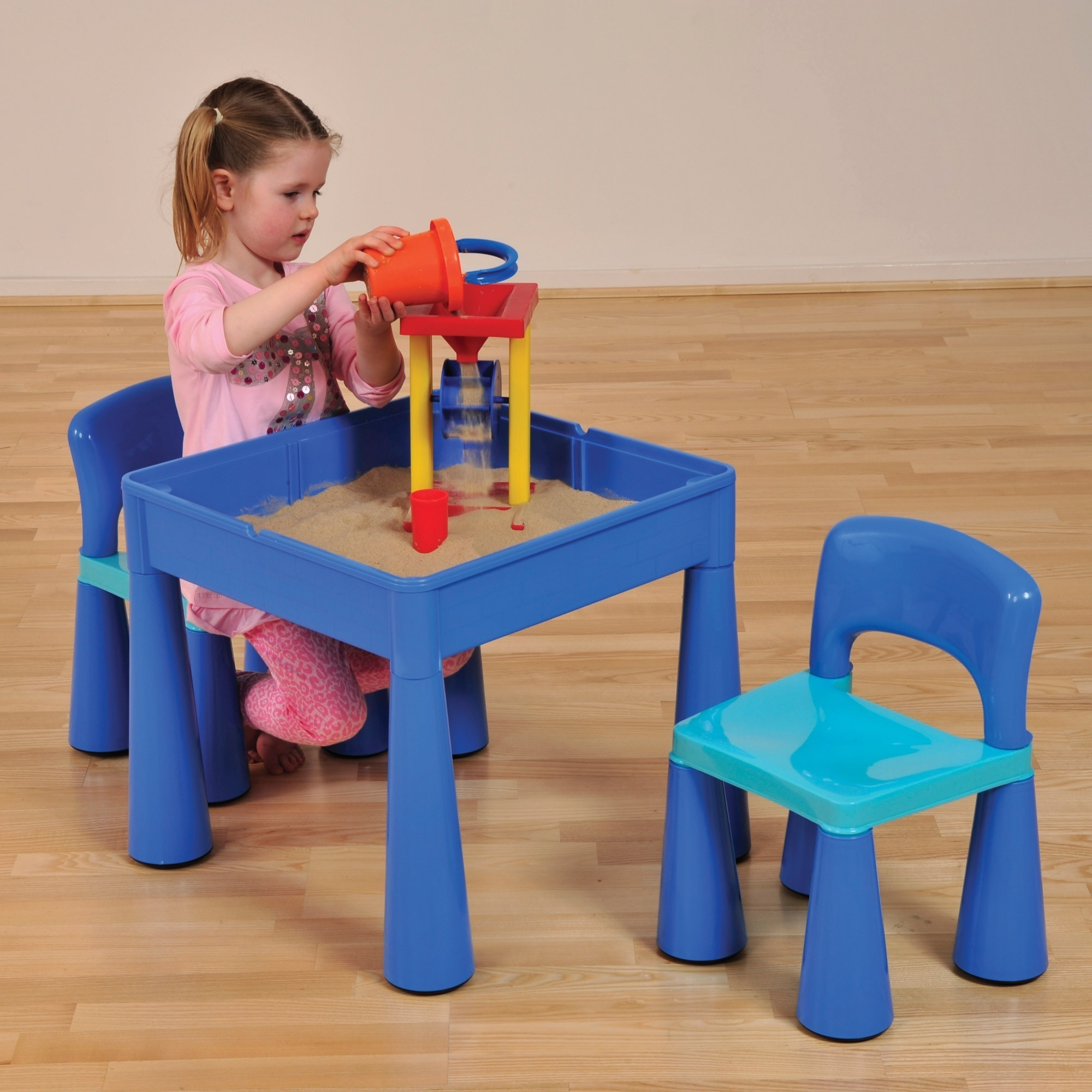 25714678d9e7 5 in 1 Multipurpose Activity Table   2 Chairs – Blue - Liberty House Toys  (899B)