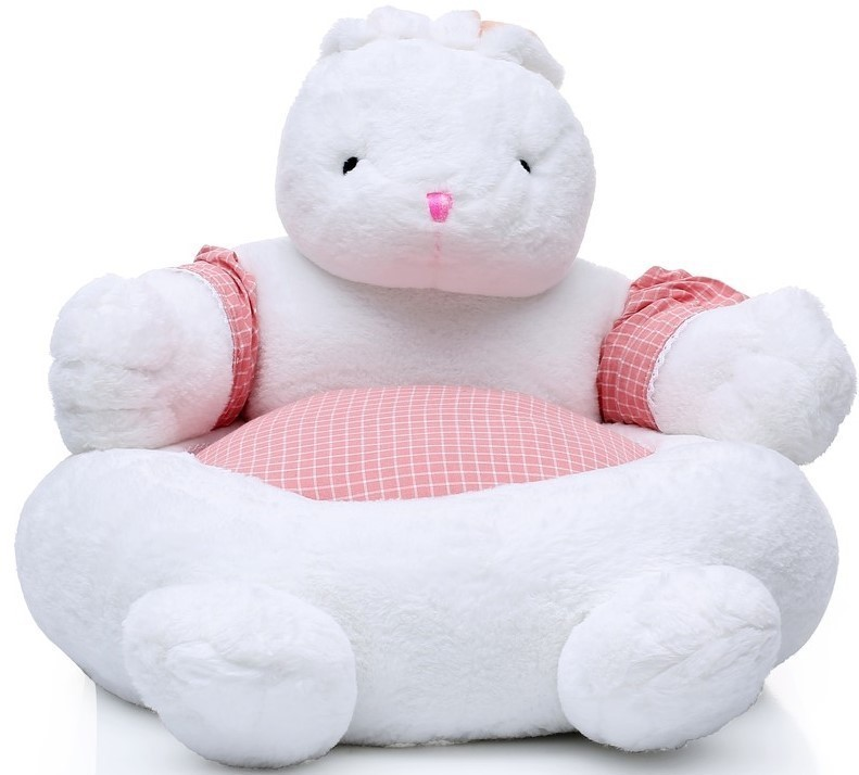 Kids Plush Armchair Sheep 208 White Gray Kayoom