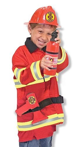 Melissa & Doug verkleedkleding brandweerman